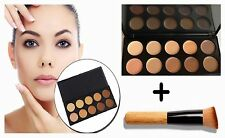 Pro 10 Colours Concealer Palette Camouflage Face Cosmetic Makeup Cream Brush