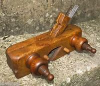 peu courant rabot bouvet à moulure - deux fers - outil ancien