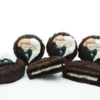 Philadelphia Candies Wedding Bride Groom Heart Dark Chocolate OREO® Cookies Gift