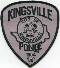 KINGSVILLE TEXAS TX subdued POLICE PATCH