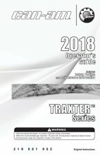 New listing Can-Am 2018 Traxter Series Owners Operators Maintenance Manual Paperback