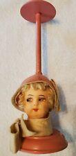 Antique Felt Velvet Art Deco Flapper Doll Head Hat Stand