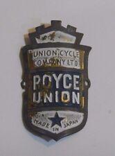 Union Cycle Company Ltd. Royce Union Made In Japan Head Tube Badge Bicycle Gear