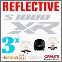 3x S1000XR Grigio / Bianco BMW ADESIVI PEGATINA S1000 XR S1000