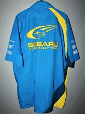 SUBARU WORLD RALLY TEAM OFFICIAL SHIRT STI RACING BLUE PIRELLI