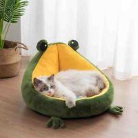 Pet  House Indoor Frog Cat Bed Warm Small Beds Portable Kitten Mat Soft Cute nz