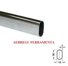 Tubo Asta per Armadio Ovale Colore Cromato Reggitubo  Lunghezza 1 2 3 metri