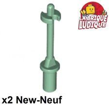 Lego 2x Minifig utensil baton ski Pole 3L neige snow vert sand green 90540 NEUF