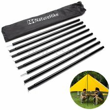 8x Universal Canopy Porch Tent Upright Pole Support For Tarp Tent Cover Awning