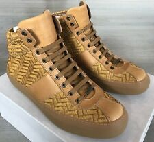 750$ Jimmy Choo Belgravi Saddle High Tops Sneakers size US 9, Made in Italy
