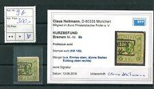 Altdeutschland Bremen Michel Nr. 9b gestempelt / BPP Kurzbefund