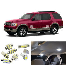 8 White LED  Bulb Interior Light Package for Ford Explorer 2002 2003- 2010
