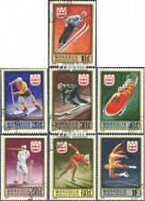 Mongolia 975-981 (complete issue) used 1975 olympic. Games, Inn