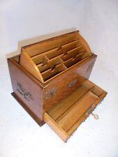Antique Oak Desktop Writing Box , Stationery Cabinet     ref 4318