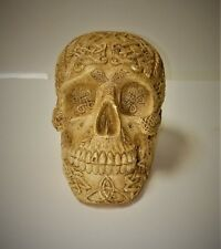 Vintage Celtic Design Human Head Skull Protective Decor Tattoo Patterns