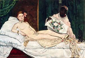 Edouard Manet, Olympia, 1863, Erotic Art Paris, Art Poster, Museum Canvas Print