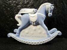 Wedgwood My First Christmas Ornament in Box - Marked - Blue