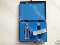 2pcs Quartz cuvettes with lids 10mm cell cuvette with box