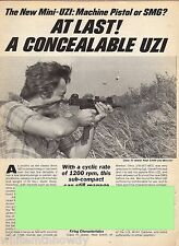 1984 MINI-UZI Machine Pistol or SMG Submachine Gun 2-pg Evaluation Article