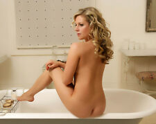 Nude Art Picture Photo of Female Model Bare Butt Bath Photograph