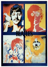 "The Beatles Four Faces Psychedelic Poster 24"" x 36"" Free US Shipping"