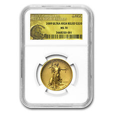 2009 Ultra High Relief Gold Double Eagle MS-70 NGC (Gold Label) - SKU #55666