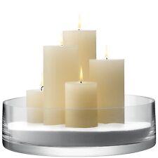 LSA International Column Bowl/Candleholder - 10x35cm - Clear