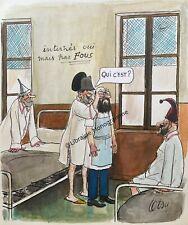TETSU Roger Testu, dit) peintre et dessinateur humoristique français (1913-2008)