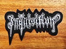 Inquisition Sew Iron On Patch Embroidered Rock Band Heavy Metal Music Logo