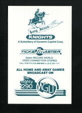 Long Island Knights--1987 Pocket Schedule--WGLI--USBL