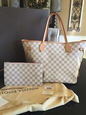 Authentic Louis Vuitton Neverfull MM Damier Azur Rose Ballerine