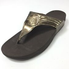 FITFLOP Walkstar III Women's Wobble Board Sandals Metallic Brown 11