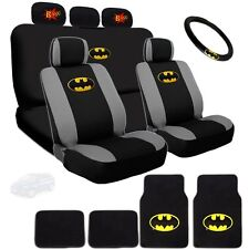 Ultimate Batman Seat Steering Mats & Classic BAM Headrest Covers Set For Mazda