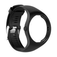 Silicone Wristband Replacement Watch Strap Bracelet for Polar M200 Black