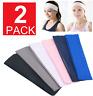 2-Pack HEADBAND Stretch Sports Yoga Gym  Hair Band Wrap Sweatband Womens Mens