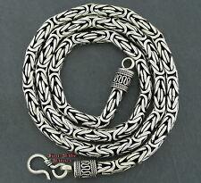 Königskette das Original 6mm 52cm Massiv Silber 925 Balikette Balichain Halskett