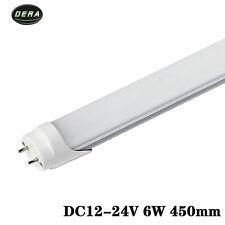 2pcs 450mm 1.5ft T8 6w dc12v-24v AC110-277v  SMD2835 Led tubes light bulb