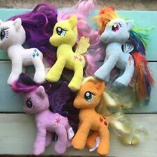 My Little Pony Plush Toy Lot 5 Ponies W/ Hair Aurora Plush Rainbow Dash Rarity +