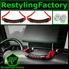 07-16 Jeep JK Wrangler Ultimate RED Rear Side Grab Handle Pair Windshield Pillar