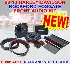 ROCKFORD FOSGATE PUNCH 300 WATT FRONT SPEAKER AMP KIT FOR HARLEY 98-13 FLHX FLTR