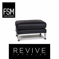 FSM Leder Hocker Blau Schemel #11509