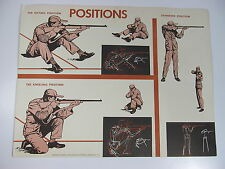 "Vintage Gun Firing Positions Training NRA Hunting Safety Poster 22"" x 17"""