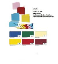 Folia - Doppelkarten Tonpapier Bastel Papier Karton Falt Karten mit Umschlag