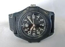 Timex Expedition Indiglo Date Analog Watch All Black WR 100m 40mm Mens