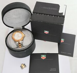 MENS TAG HEUER PROFESSIONAL WK1120 2000 200M GOLD SILVER DIVING WRISTWATCH