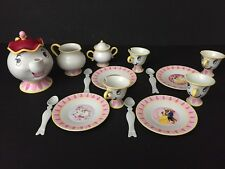 Vtg Disney's Beauty and the Beast Mrs Potts Chip talking tea set, Complete!