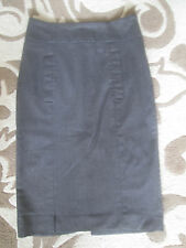 ZARA BASICS - BROWN POLYESTER BLEND PENCILSkirt Size SMALL