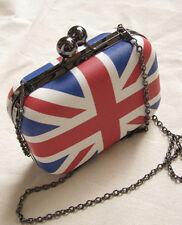 England British Flag Women Clutch Evening Bag Chain  Crossbody Shoulder Bag