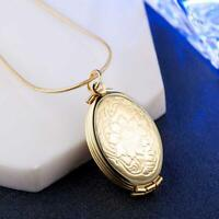 Casual Expanding Photo Locket Vintage Floating Floral&Mermaid Necklace Pend H5L3