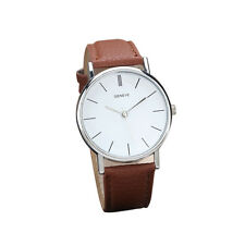 Neu Geneva Damen Retro Design Armbanduhren Leder Analog Quartz Mode Uhren Watch